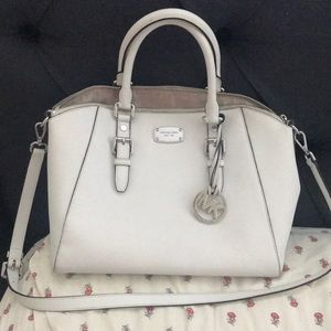 Michael kors white leather purses